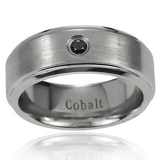 Vance Co. Men's Cobalt 1/10ct TDW Black Diamond Band (8 mm)