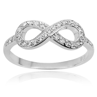 Tressa Collection Sterling Silver Cubic Zirconia Infinity Ring