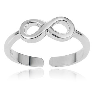 Tressa Collection Sterling Silver Adjustable Infinity Toe Ring