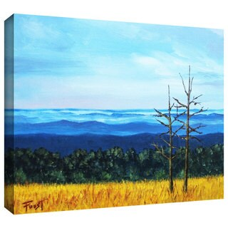 Art Wall Gene Foust 'Serene Mountain Tops' Gallery-wrapped Canvas Art
