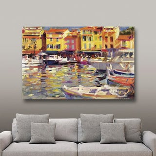 Art Wall Peter Graham 'Harbour at Cassis' Gallery-wrapped Canvas Art