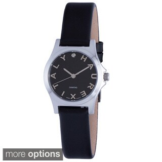 Haurex Italy Women's City Diamond Leather or Stainless Steel Strap Watch
