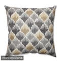 Baroque Bargello Shale Throw Pillow