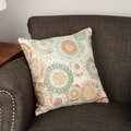 Maggie Mae Aqua Throw Pillow