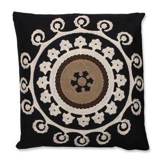 Suzani Night 18-inch Embroidered Throw Pillow