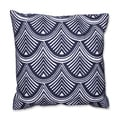 Geometric Shells 18-inch Embroidered Throw Pillow