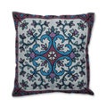 Floral Medallion 18-inch Embroidered Throw Pillow