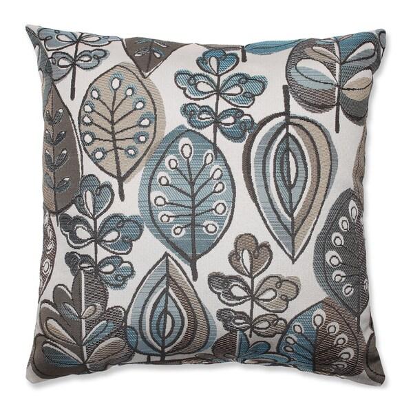Leafster Bristol Blue Throw Pillow