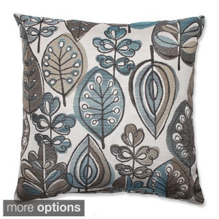 Leafster Bristol Blue Throw Pillow