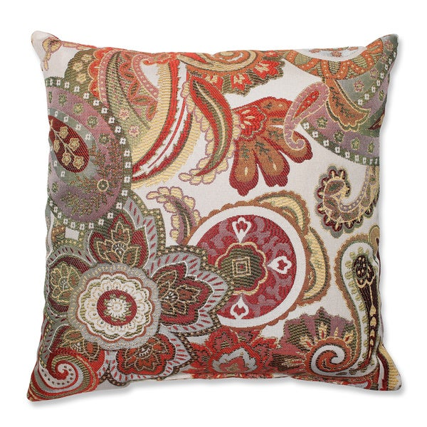 Crazy Rosewood Throw Pillow