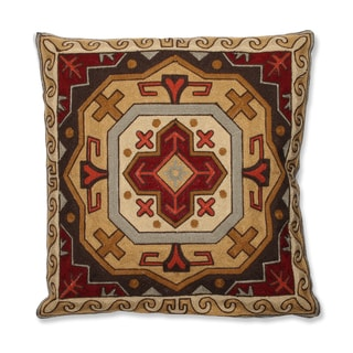 Southwestern Medallion 18-inch Embroidered Throw Pillow
