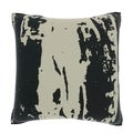 Gray Pattern 18-inch Velour Throw Pillow