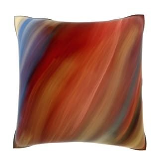 Blurred Motion 18-inch Multicolored Velour Throw Pillow