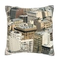 Aerial View of Los Angeles, California 18-inch Square Velour Throw Pillow