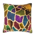 Abstract African Giraffe 18-inch Velour Throw Pillow