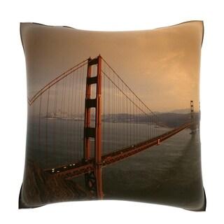 Golden Gate Bridge at Sunset San Francisco California 18-inch Velour Throw Pillow