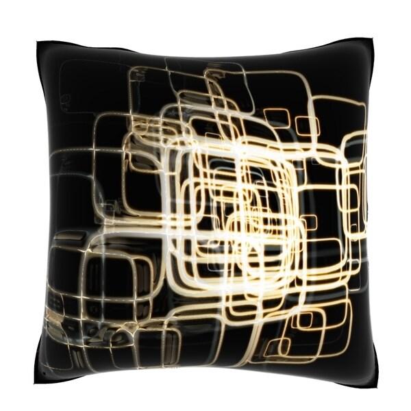 Warped Window 18-inch Velour Throw Pillow