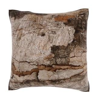 Close-Up of Bark 18-inch Velour Throw Pillow