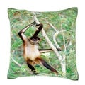 Spider Monkey at the Belize Zoo 18-inch Velour Throw Pillow