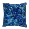 Abstract Blue Background 18-inch Velour Throw Pillow