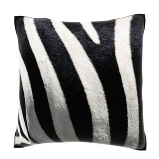 Stripes on Zebra 18-inch Velour Throw Pillow