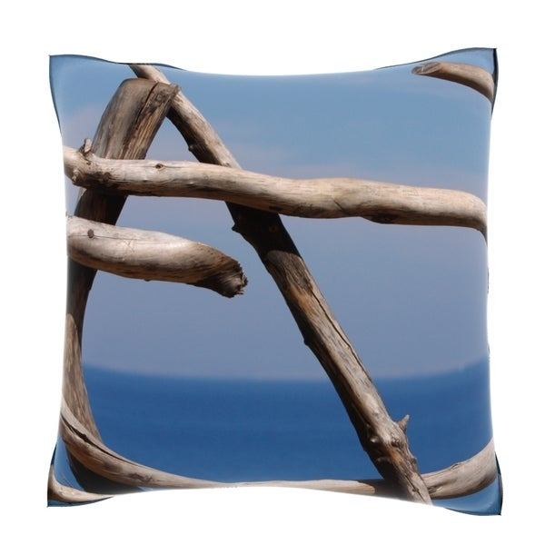 Wood Formation by Sea 18-inch Velour Throw Pillow