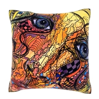 Abstract Illustration Portrait 18-inch Decorative Pillow