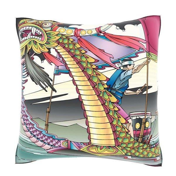 Dragon Boat Racing 18-inch Decorative Pillow