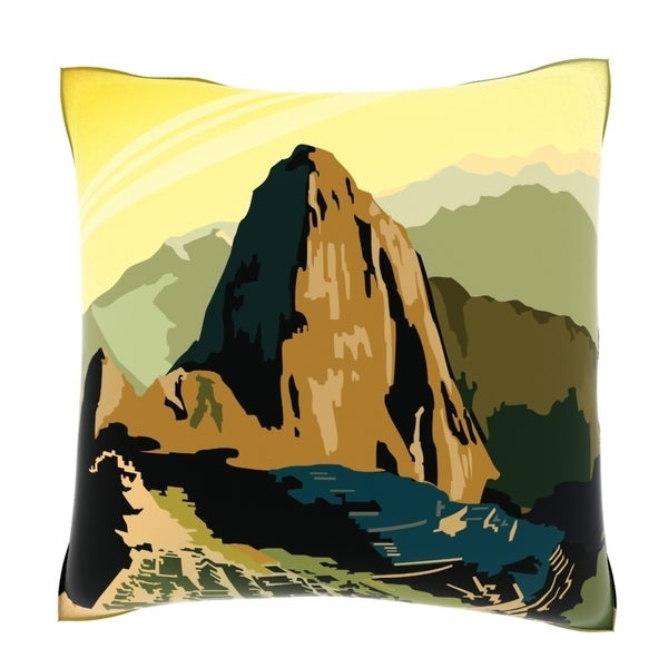 A View of Machu Picchu 18-inch Decorative Pillow