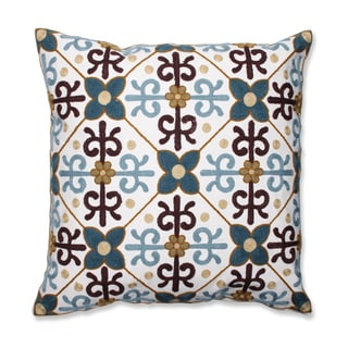 Quatrefoil 18-inch Embroidered Throw Pillow