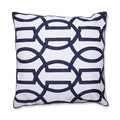 Modern Geometric 18-inch Embroidered Throw Pillow