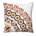 Suzani Royal 18-inch Embroidered Throw Pillow