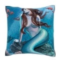 Mermaid Siren in the Sea 18-inch Decorative Pillow