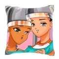 Beauties Under the Hair Dryer 18-inch Decorative Pillow