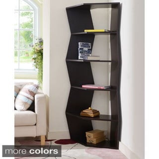 Furniture of America New Journey 6-shelf Contemporary Corner Display Bookcase Unit