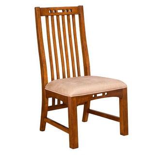 Artisan Ridge Slat Back Warm Nutmeg/ Mocha Side Chair (Set of 2)