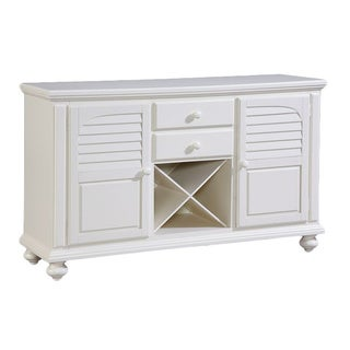 Seabrooke Creamy White Wood Server