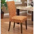 Orange Roosters Upholstered Parson Dining Chairs (Set of 2)