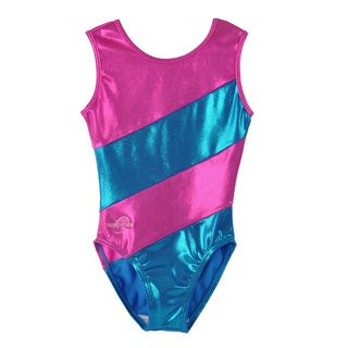 Obersee Kids Pink Diagonal Gymnastics Leotard