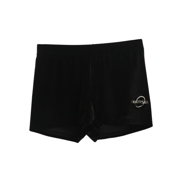 Obersee Kids Black Velvet Gymnastics Shorts