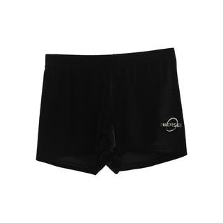 Obersee Kids Black Velvet Gymnastics Shorts