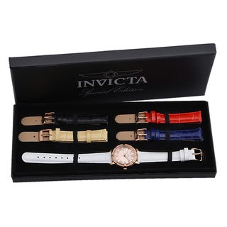 Invicta Women's 14893 'Wildflower' Interchangeable Leather Band Watch