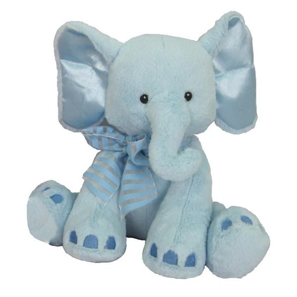 First & Main Plush Blue Elephant