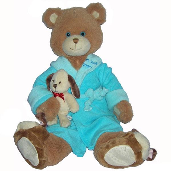 First & Main 'Get Well Soon' Plush Brown Bear 12386229