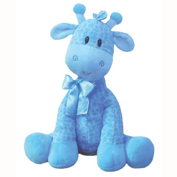 First Amp Main Plush Blue Giraffe 15997607 Overstock Com