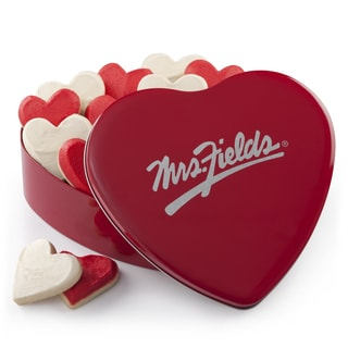 Mrs. Fields Frosted Hearts Cookie Tin