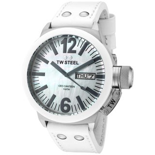 TW Steel Men's CEO Canteen White Watch