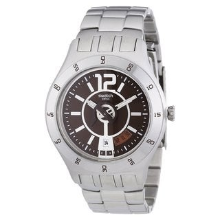 Swatch Men's Stainless Steel Burgandy Dial Watch