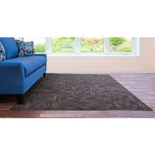 Assorted Color 10-piece 24x24-inch Carpet Tile Set