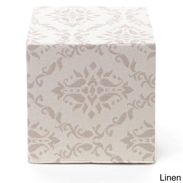 Adora Damask Cube Pouf